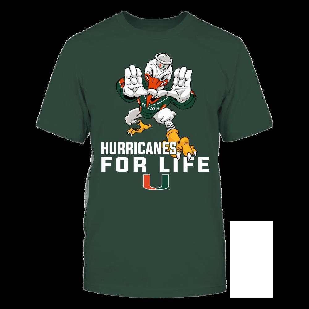 0c0b05a030e Miami Hurricanes - Mascot Art - For Life T-Shirt