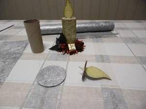 Une bougie avec le rouleau en carton du papier toilette . - Blog de decliccreatif - Skyrock.com #rouleaupapiertoilettenoel