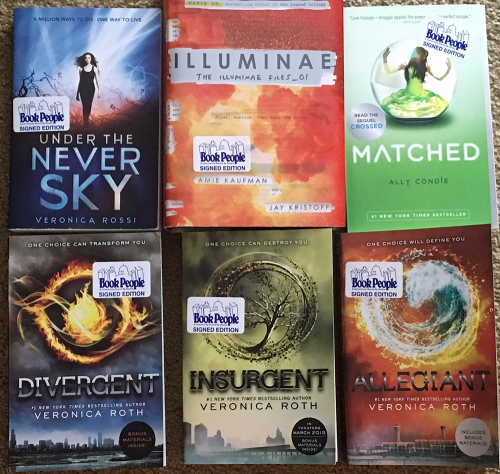 Win 14 Signed Dystopian Ya Books Including Divergent