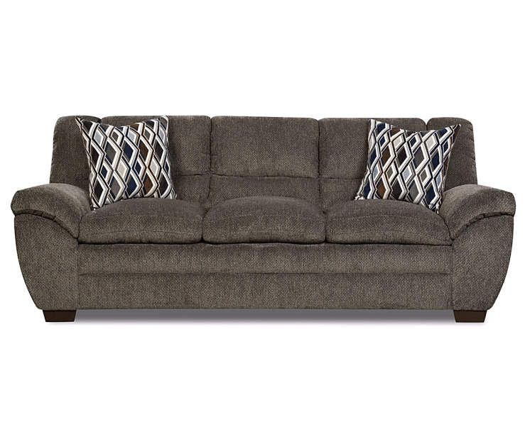 Best Simmons Worthington Pewter Sofa Affordable Living Room 640 x 480