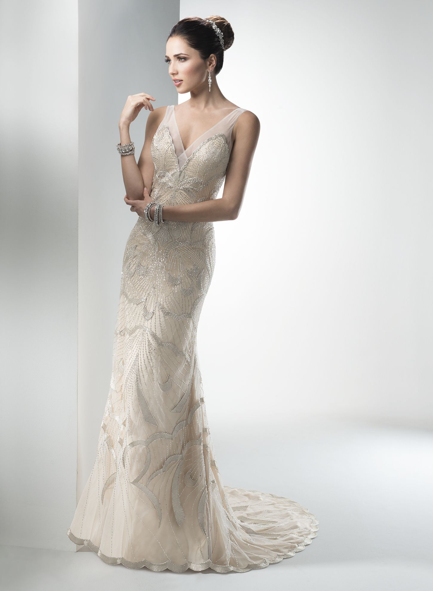 Gianna Marie By Maggie Sottero Wedding Dresses Designer Metallic
