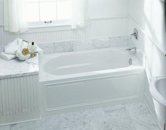 kohler k1184ra0 devonshire bath with integral apron tile flange - Kohler Archer Tub