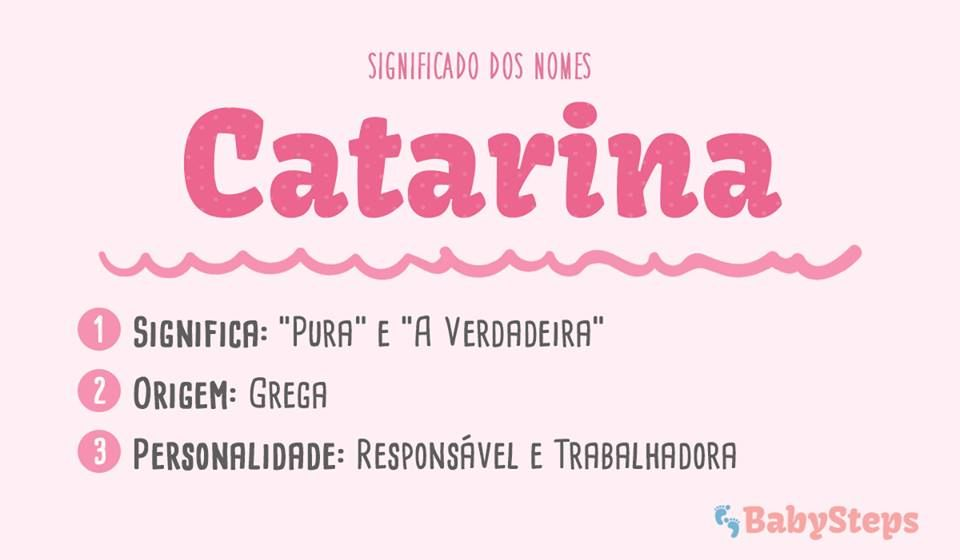 Catarina Babysteps Significado Nomes Menina Rapariga Bebe