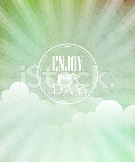 Vector background with sun rays that says enjoy your day royalty-free stock vector art