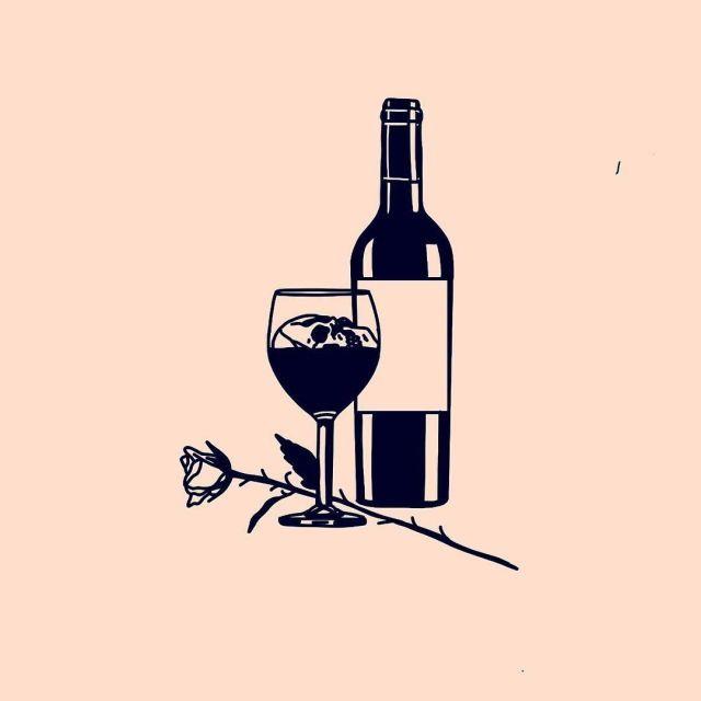 Анимация, картинка с рюмкой и бутылкой