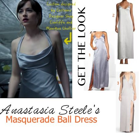 Ana Silver Grey Dress 50 Fifty Shades Darker Dakota Masquerade Dresses Grey Wedding Dress Grey Silk Dress