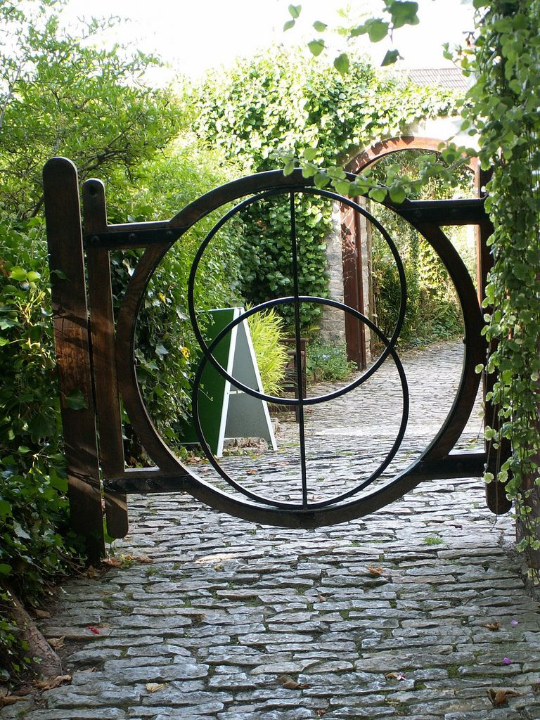 Chalice well gardens vesica pisces gate with images