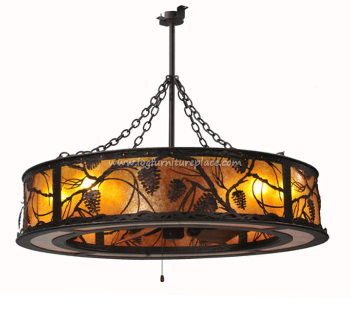 Decorating Stained Glass Ceiling Light Fan