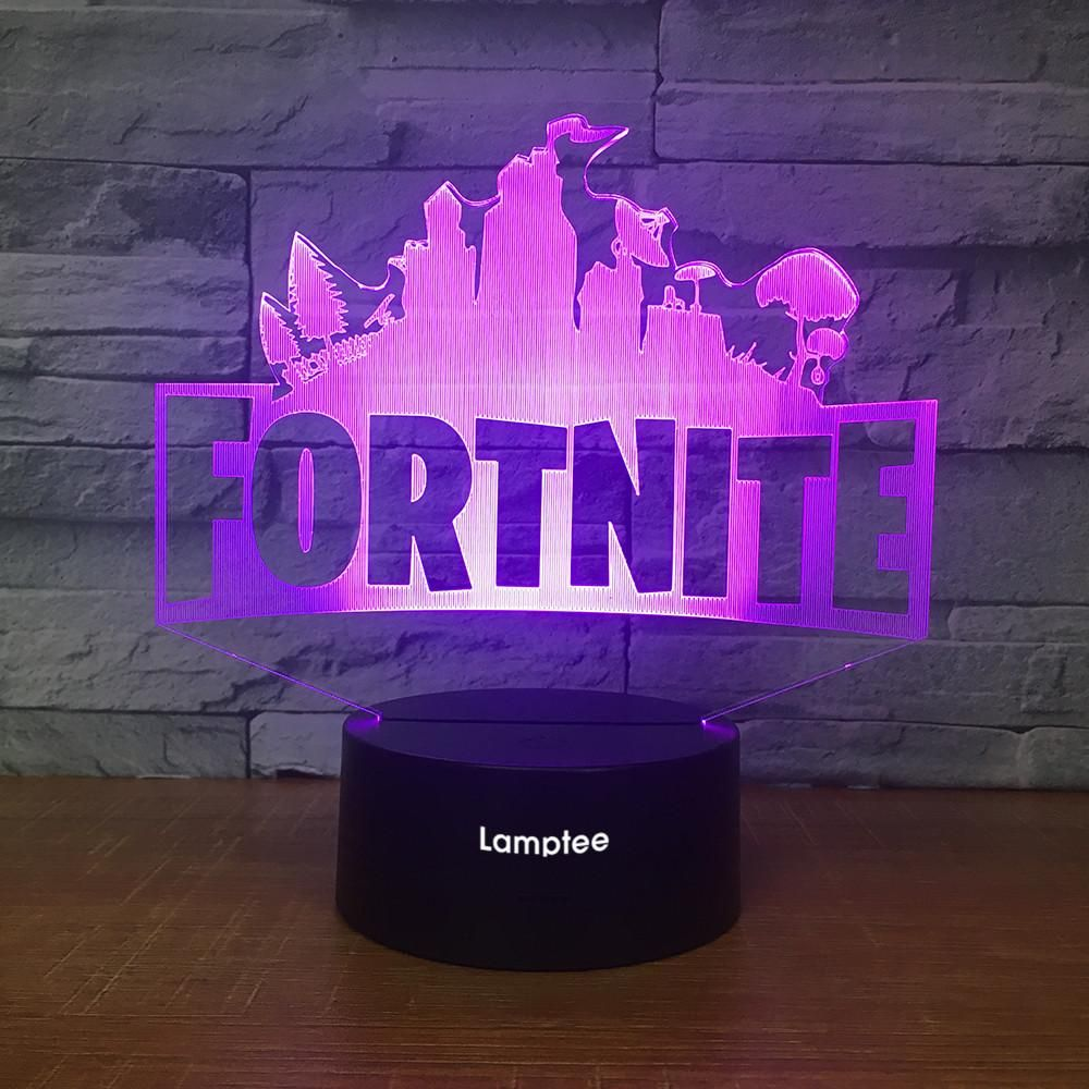 Anime Fortnite 3d Illusion Lamp Night Light 3dl2529 In 2020 Boys Room Diy Boys Room Decor Cool Kids Rooms