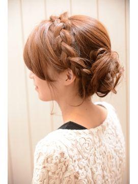 編み込みヘアアレンジのやり方を画像で解説しますっ♡|. 結婚式