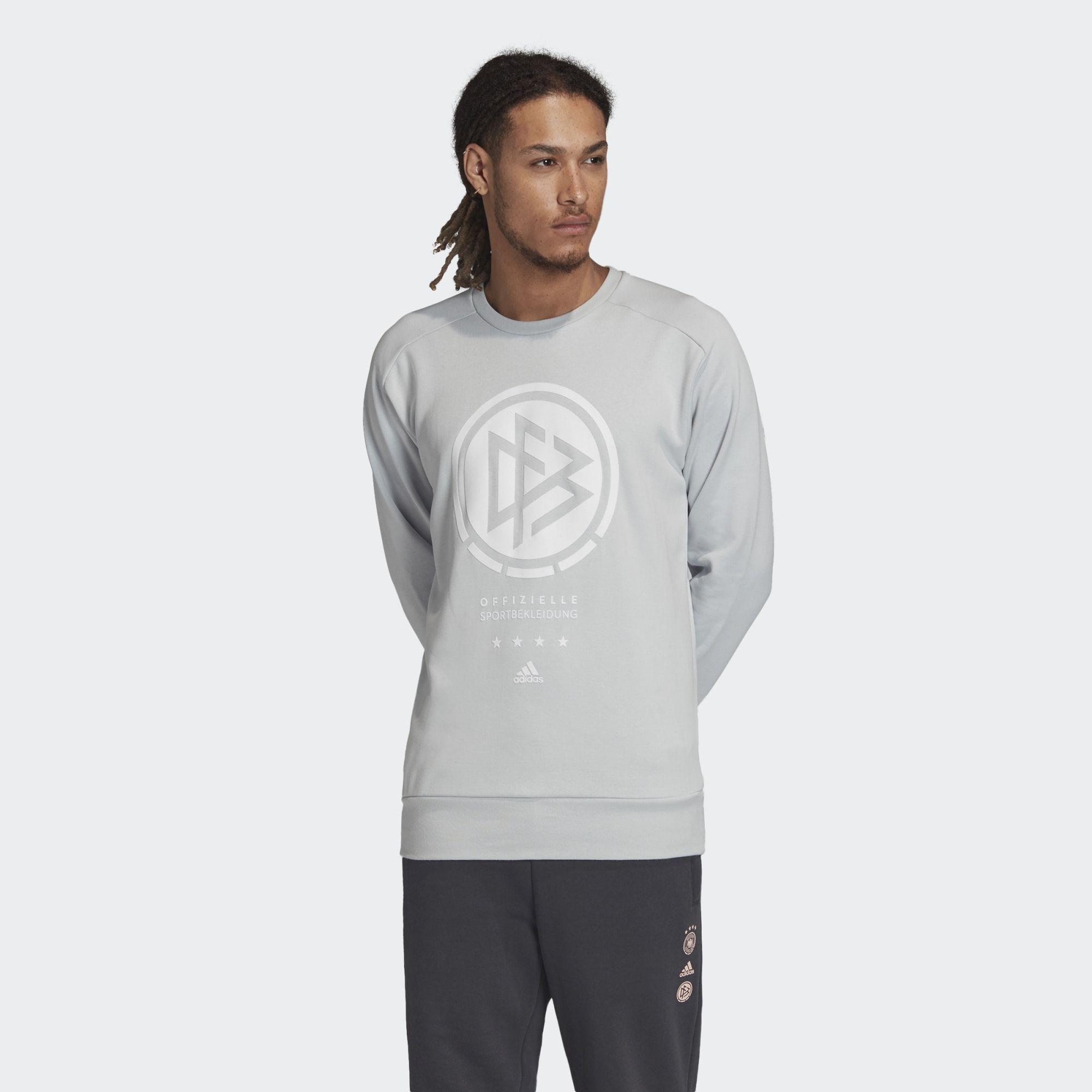Adidas Germany Seasonal Special Crew Sweatshirt Clear Grey Dfb Adidasfootball Adidas Sweatshirt Sweatshirts Crew Sweatshirts [ 2000 x 2000 Pixel ]