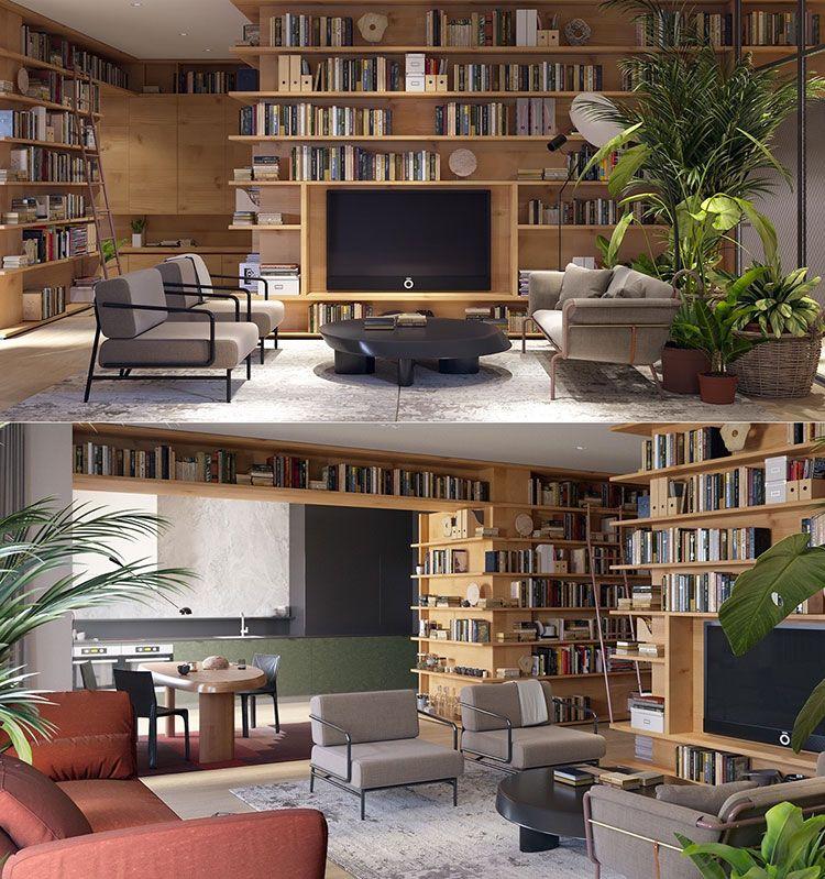 libreria a parete 25 idee di design per arredare il On arredare parete soggiorno
