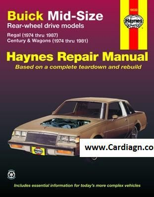 buick mid size haynes repair manual free download pdf buick manual rh pinterest com 1991 Buick Regal 1991 Buick Regal