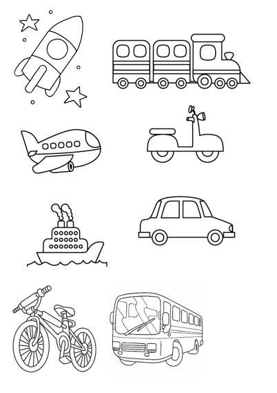 Vehicules2 Pre Predskolakov Aktivity Pre Deti Skolka
