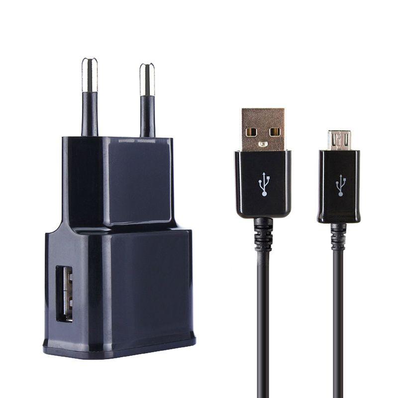 Adattatore di ricarica + Cavo Micro USB per Samsung Galaxy s7 bordo & S3 S4 S6 A5 A7 J5 seriale Spina del Caricatore UE 5 V Qualità carica