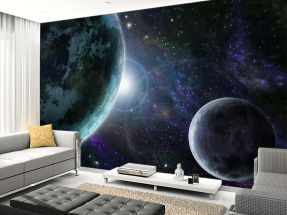 Astronaut /& Planet Earth Wall Mural Wallpaper WS-42839