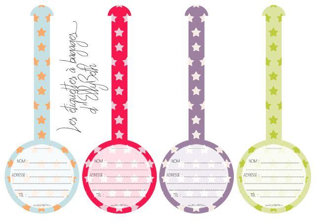 Ellybeth Des étiquettes à Bagages à Télécharger Home Management Binder Sewing Accessories Fabric