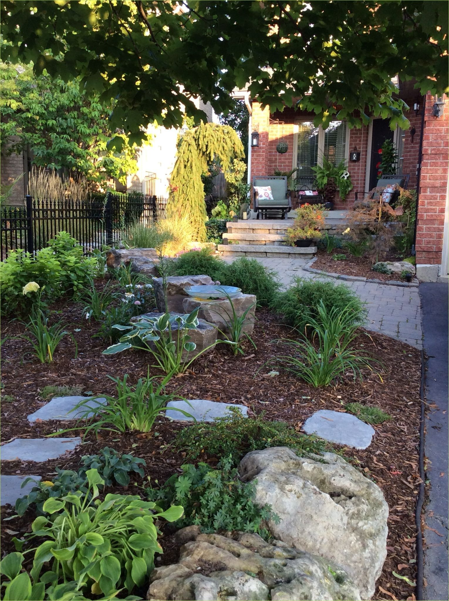 Fantastic Front Yard Landscaping Ideas No Grass | Small ... on Small Backyard Ideas No Grass  id=53142