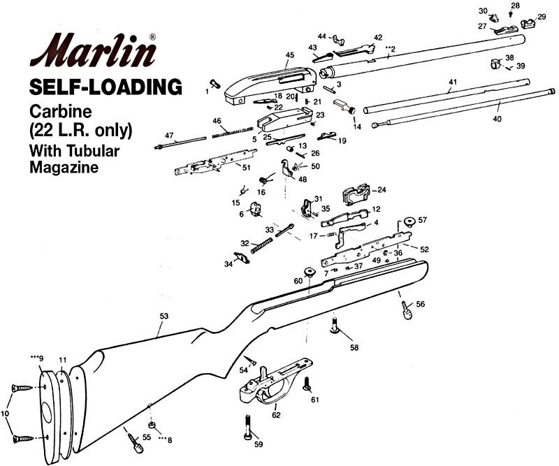 marlin glenfield model 60 parts diagram