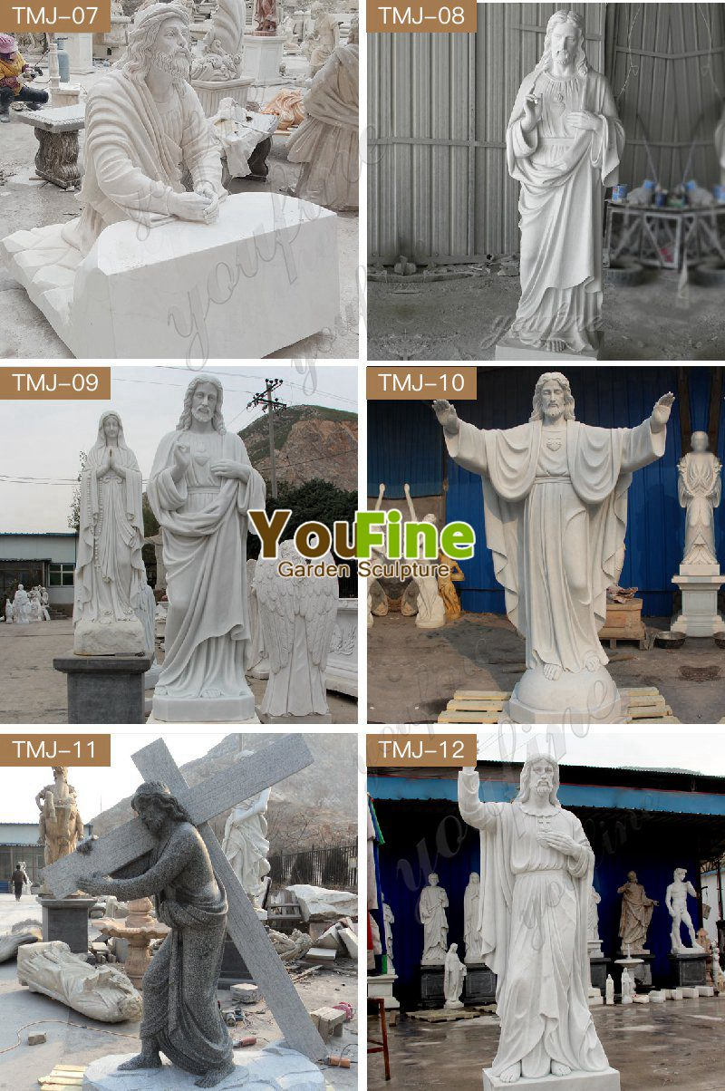 Outdoor High Quality White Marble Jesus And Angel Sculpture Jesus Statue Angel Sculpture Marble Sculpture