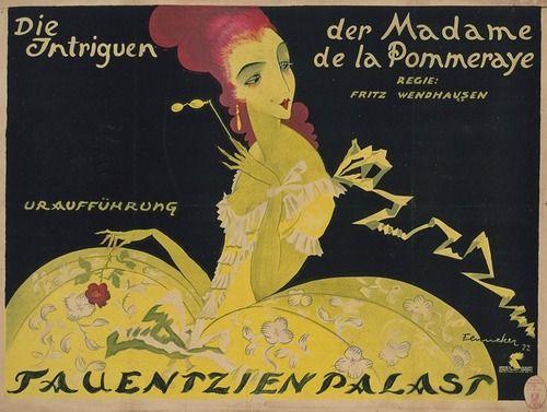 Die Intrigen der Madame de la Pommeraye (1922). German poster.
