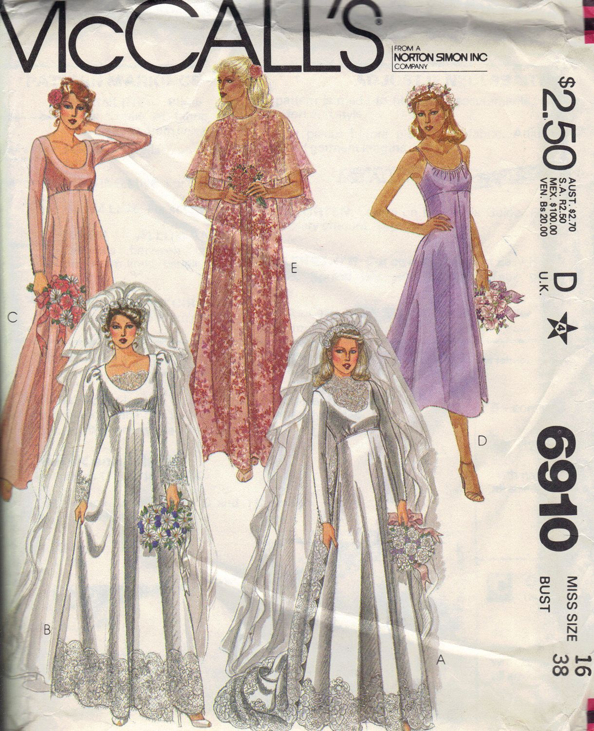 McCall\'s Retro Wedding Dress 70s Sewing Pattern | Sewing Patterns ...