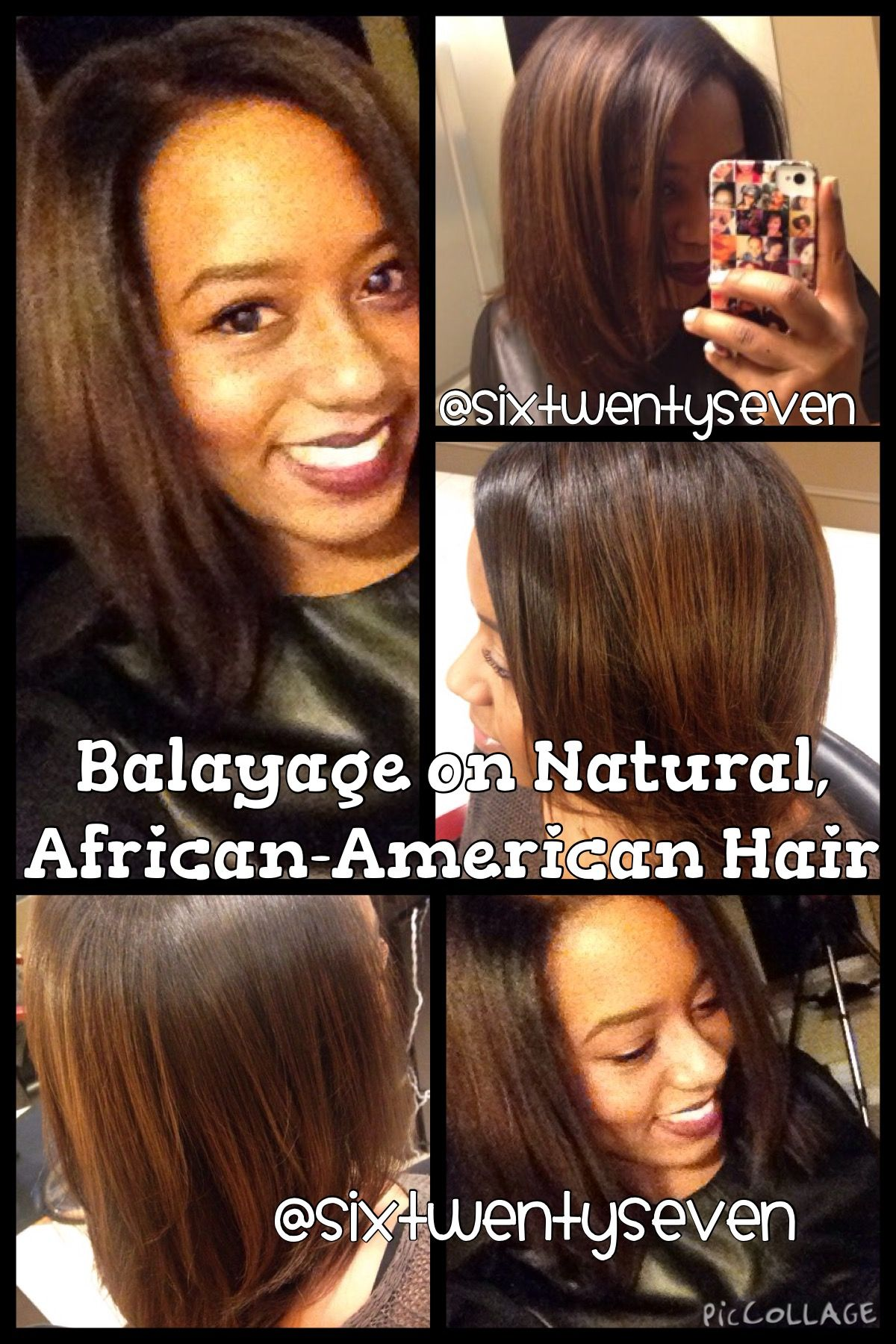Results Of The Balayage Technique On Natural African American Hair