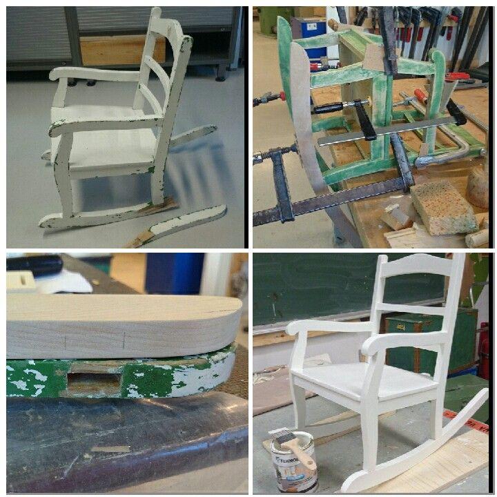 Vanha lasten kiikkus tuoli sai uuden elämän <3