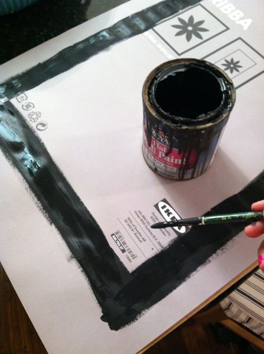 e45013201554 Great fix for pre-cut mats that aren t quite the right size for the print  you want to frame! Just use paint.