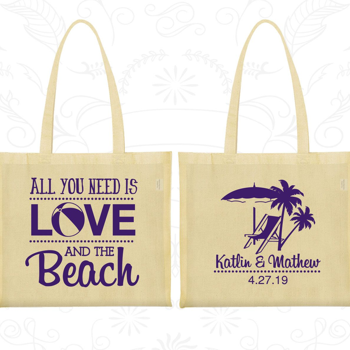 All You Need Is Love And The Beach Bags Promotional Wedding