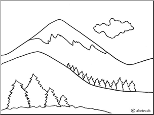 mountain coloring pages print - photo#22