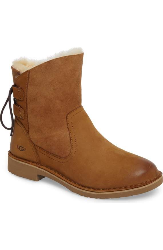 352bf5bf0d7e11 Finally found these Uggs! Combo of leather upper and suede plus ties in  back makes