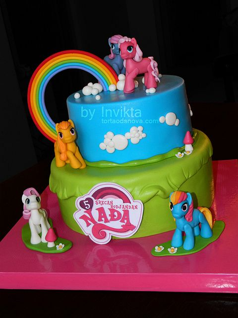 My little pony birthday cake Pony cake Pony and Birthday cakes