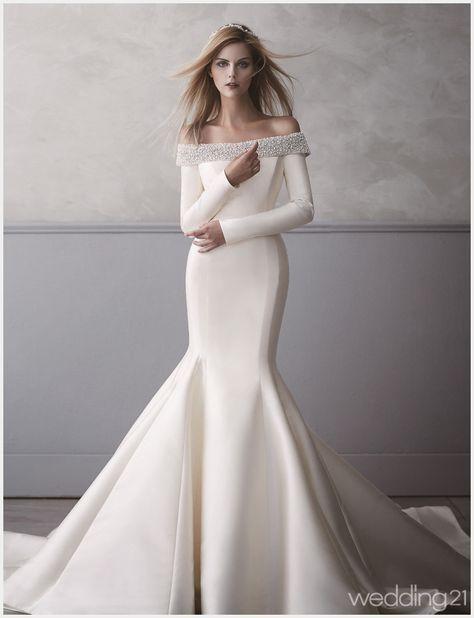 Long Sleeve Silk Wedding Dresses