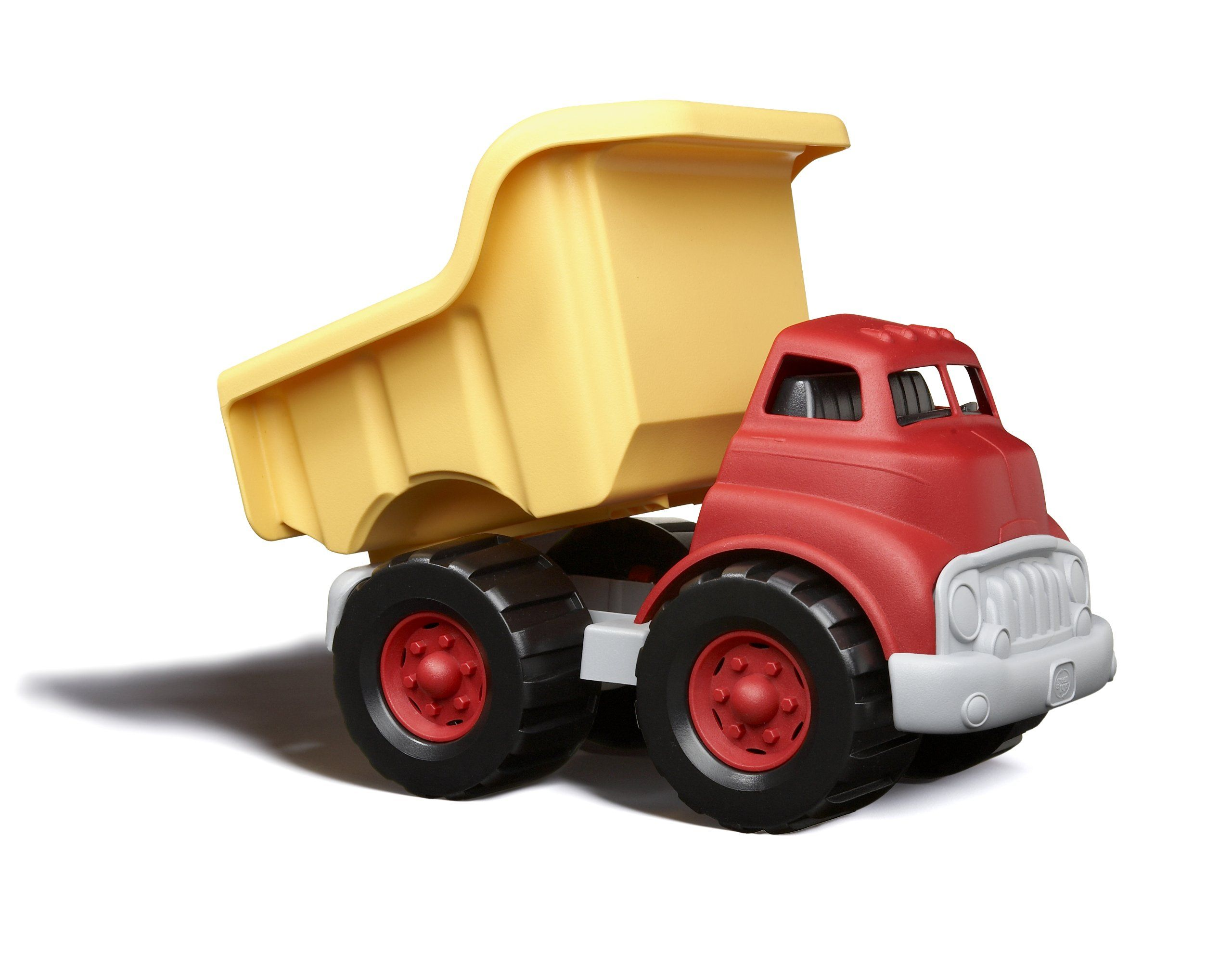 Fine Motor Skill Development Phthalates Free Play Toys for Gross Motor Green Toys Dump Truck in Yellow and Red Pretend Play BPA Free