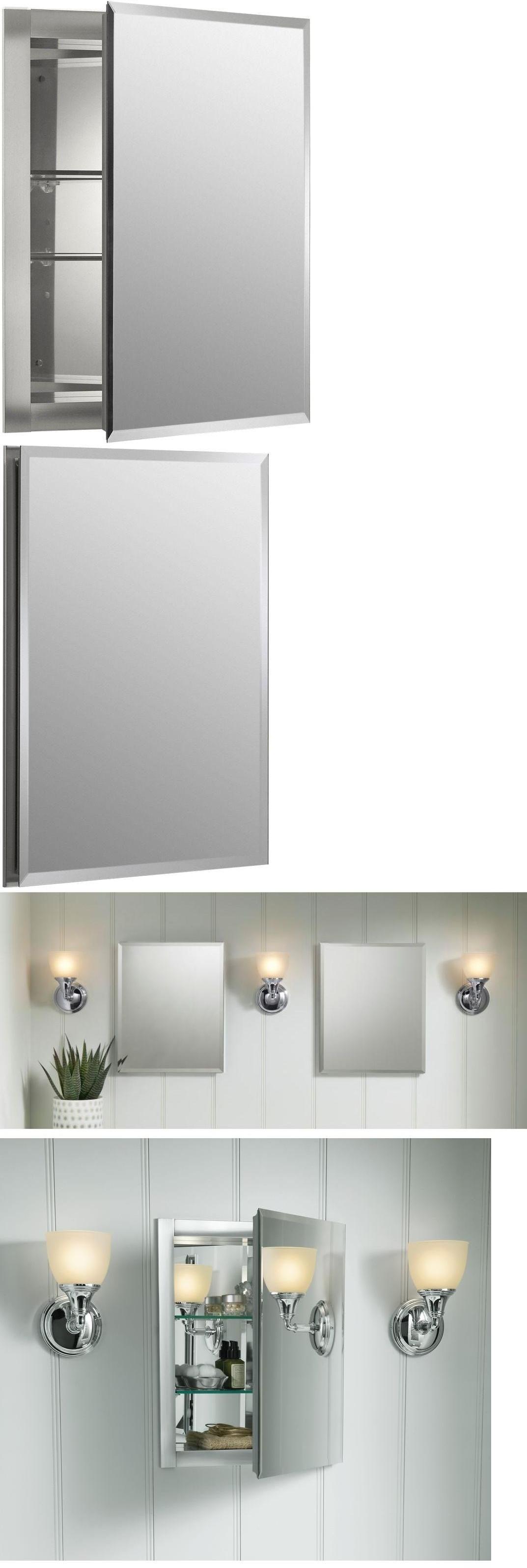 medicine cabinets kohler aluminum recessed frameless bathroom mirrored shelved medicine cabinet u003e buy - Kohler Medicine Cabinets