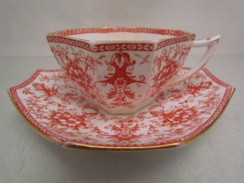 ANTIQUE-19TH-C-WILEMAN-EARLY-SHELLEY-DUO-RED-TRANSFER-DESIGN-38