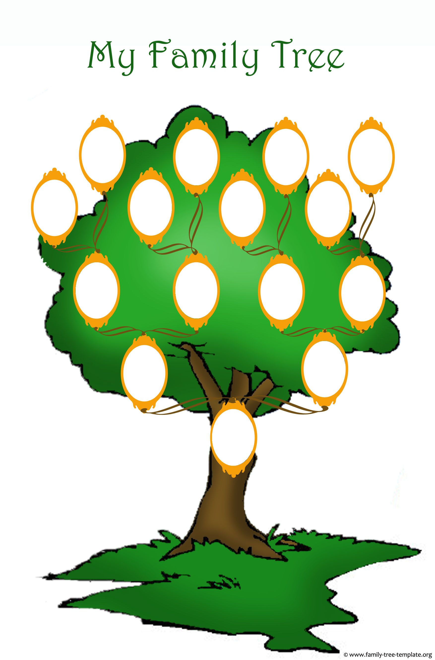 This Family Tree Template For Kids Is High Resolution And