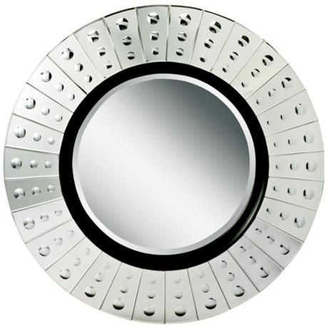 "Kichler Lens 42"" Wide Circular Wall Mirror - #X4408 | LampsPlus.com $410.00"