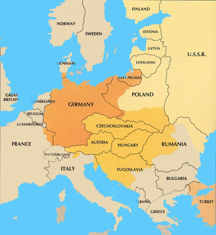 The Alliances Was Two Of The Countries Coming Together On A - Germany map after ww1