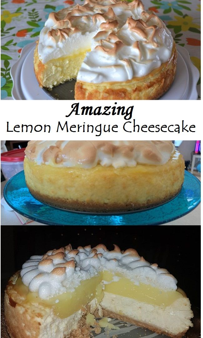 Delicious Lemon Meringue Cheesecake #lemonmeringuecheesecake
