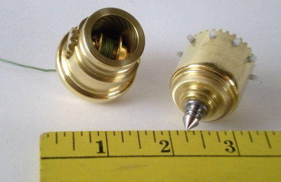 Brass Plumb Bob with Built in Gear Driven Reel door QualityInVermont