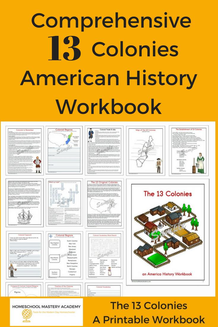 Comprehensive 13 Colonies American History Workbook 13 Colonies Teaching American History American History [ 1102 x 735 Pixel ]