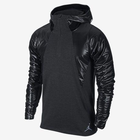 Mens Nike Air Jordan Stay Warm Fitted Shield Black Hoodie