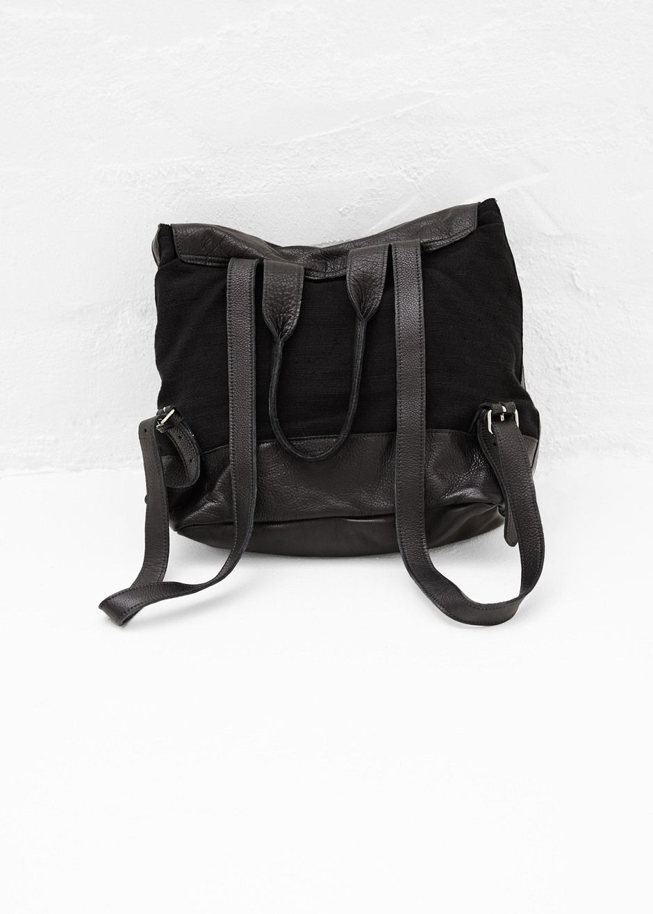 Clyde Canvas   Leather Backpack (Black   Black)  c5a750e859a89