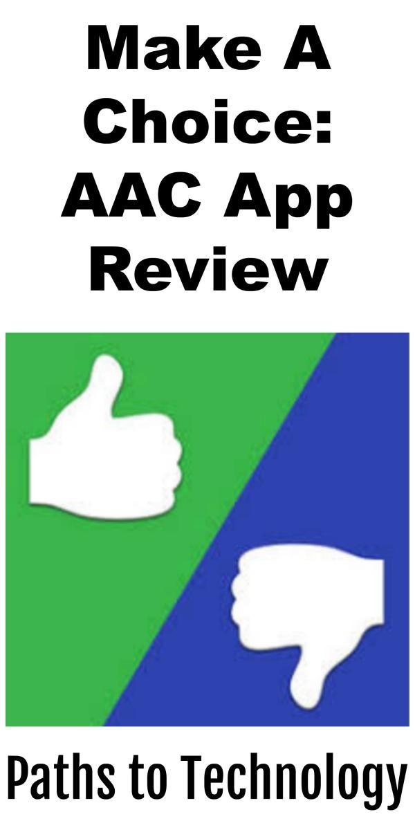 Make A Choice AAC App Review App, Make a choice, Choice
