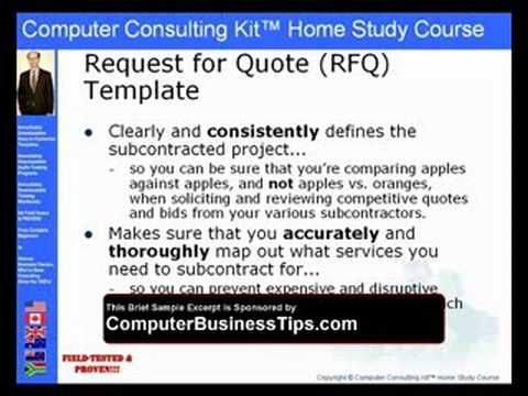 It Request For Proposal RfpRequest For Quote Rfq     Rfq