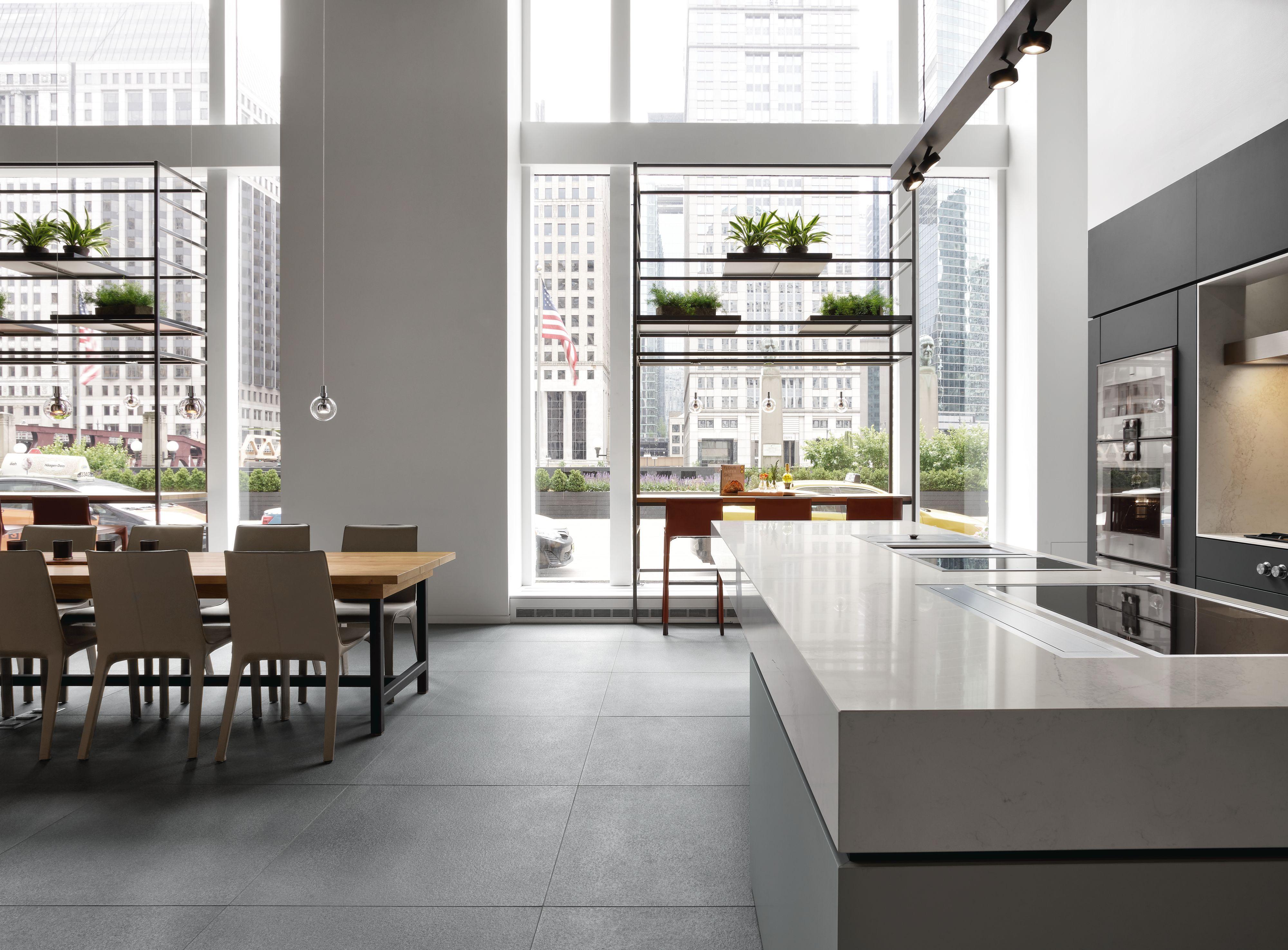 Gaggenau Showroom Chicago Fensterfront Küchengeräte