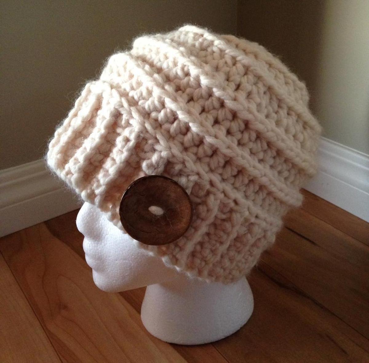 Chunky Ribbed Crochet Beanie | Gorros, Puntadas y Tejido