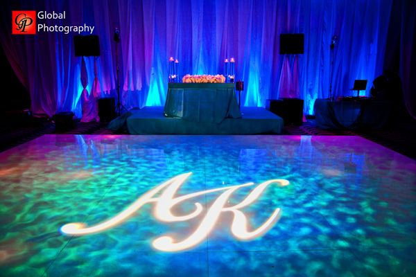 Blue Wave Theme Indian Wedding Reception